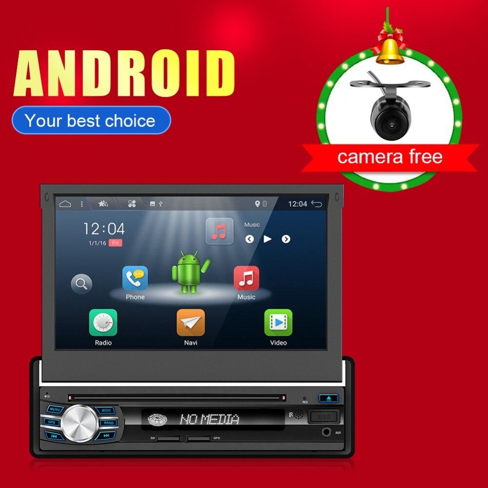 Autoradio simple Din Android 7.1 OS lecteur DVD Navigation GPS + réseau 4G + TPMS + DVR 2G ROM 16G pour autoradio universel
