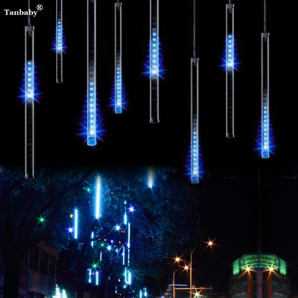 30CM Meteor Shower Rain LED light Tubes Holiday Christmas Tree Fairy LED String Light for Indoor/Outdoor Gardens Party Decor dhl free 4set lot christmas tree decoration led meteor tube 10pcs 30cm tubes set 85 265vac outdoor falling star holiday light