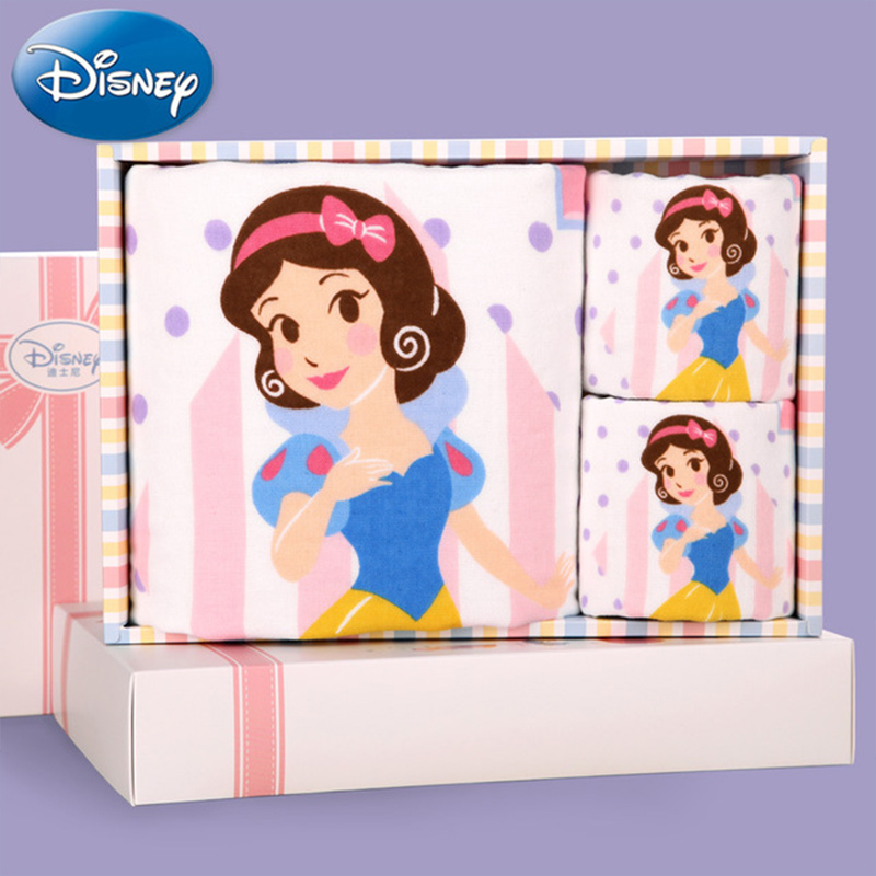 Factory wholesale products Disney Disney Princess 1 baths 2 gauze children towel box children towel bath towel children