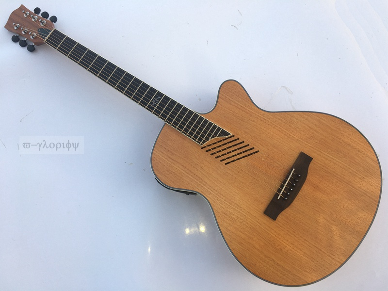 Good Acoustic Electric Guitars : full mahogany beveled hole good quality acoustic electric guitar in guitar from sports ~ Russianpoet.info Haus und Dekorationen