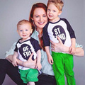 Cotton Family Matching Outfits Valentine Clothes for Mother Baby Long Sleeve LOVE Family Look Roupas Tees Tops