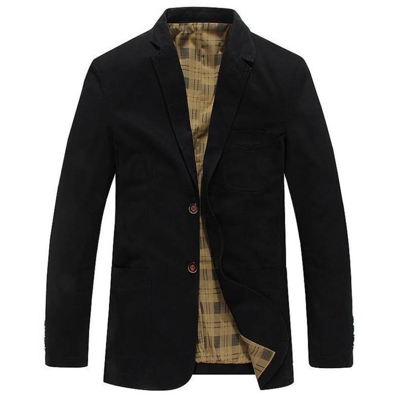 2019 جاكت للربيع الرجال العلامة التجارية الملابس الأعمال عارضة القطن بدوره إلى أسفل طوق سترة معطف الذكور chaqueta hombre سترة-في جواكت من ملابس الرجال على  مجموعة 3