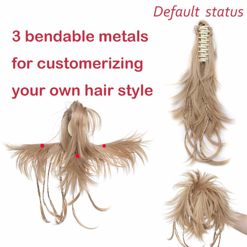 """SNOILITE 12 """"Синтетические волосы DIY черный коричневый косички коготь на заколка для хвоста на наращивание волос накладные волосы"""" конский хвост"""""""