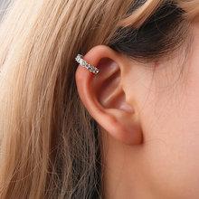 цена на 2018 Women Lady Fashion Silver Gold Crystal Rhinestone Ear Cuff Clip Earring fashion earing for women