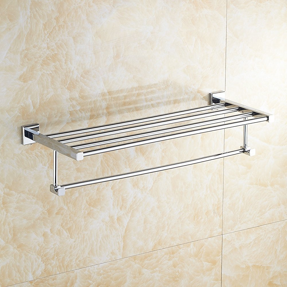 Aothpher 40/50cm Wall Mounted 304 Stainless Steel Towel Rack Double ...