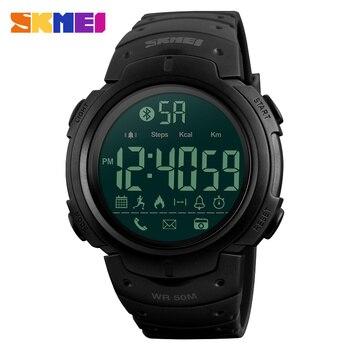 SKMEI Men Smartwatch Sport Digital Watches Bluetooth APP Remind Passometer Waterproof Smart Watch Bracelets Reloj inteligente