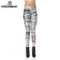 NADANBAO Hot Sale Custom Women Legging Printed Leggings Polyalphabetic Retro Style Legins Sexy Leggins High Waist