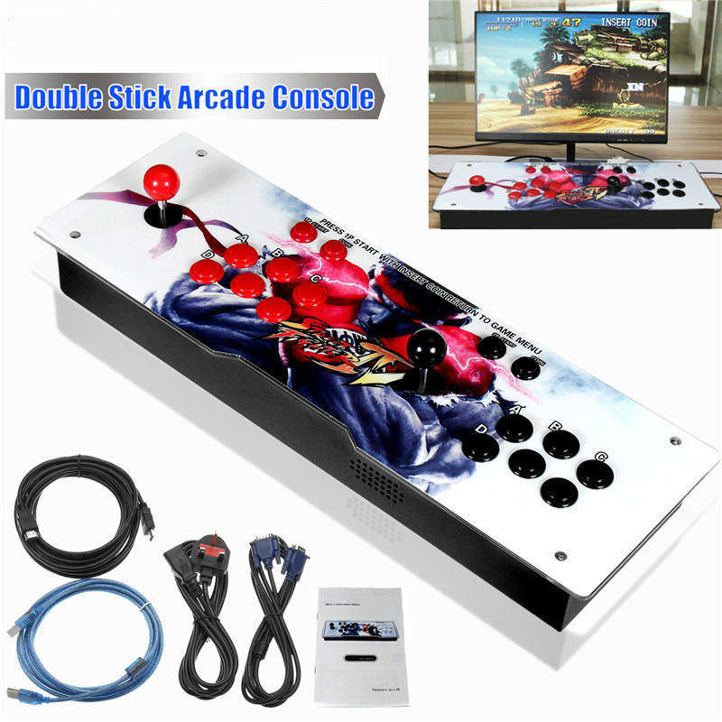 Arcade Joystick Gamepad Kit 800 Games In 1 Video TV Jamma 2 Joystick VGA + HIDMI Metal Double Stick Arcade Console With 2Players sanwa button and joystick use in video game console with multi games 520 in 1