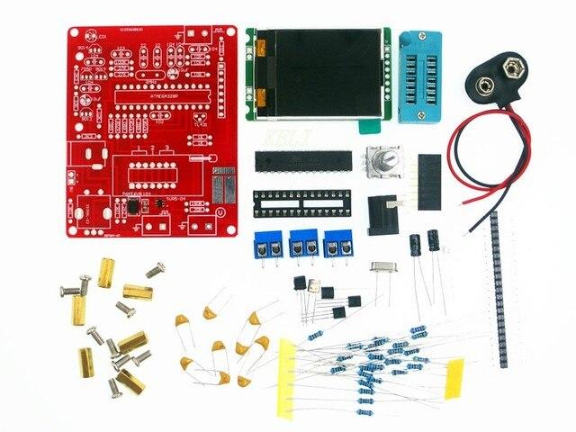 Çok fonksiyonlu Test Cihazı GM328 Transistör Test Cihazı Diyot Kapasite ESR Gerilim Frekans Metre PWM Kare Dalga Sinyal Jeneratörü