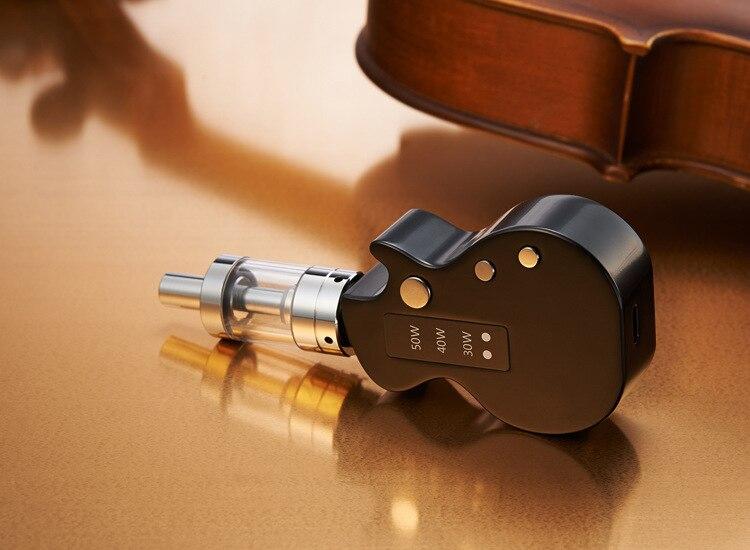 1PCS guitar starter kit e cigarettes Mini box mod 1200mah vape mods electronic cigarette met atomizer 2.0 ml vaporizer