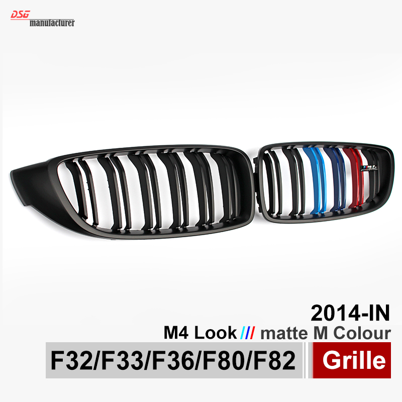 F32 F33 M4 Look ABS Front Bumper Racing Mesh Grills For BMW 4 Series F36 F80 F82 2014 2015 2016 M Color Grille With M4 Emblem стол hamburg kettler