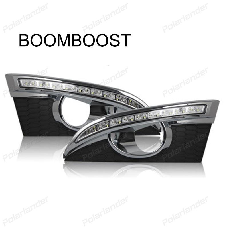 BOOMBOOST 2 pcs car parts LED Daytime running lights for  C/hevrolet C/aptiva 2011-2013  car styling auto parts 2 pcs for c hevrolet c ruze light guide 2009 2013 daytime running lights car styling