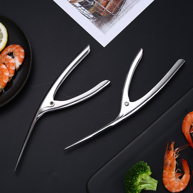 Peelers Portable Stainless Steel Prawn Shrimp Deveiner Peel Device Creative Kitchen Tools Remover Peel Device One pieces in Other Meat Poultry Tools from Home Garden