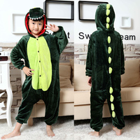 Hot Children Winter Flannel Pyjamas Baby Boy Cosplay Pajama Girls Dinosaur Cartoon Onesie Kids Pajamas For