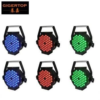 Amerykański DJ Mega 6 sztuk/partia szeroki podłogowe LED RGB może PAR z 54x3 watów 3 w 1 LED jest nie tak-System oświetlenia z 0-255 efekt stroboskopowy