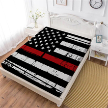 Stars Stripes Flag Bed Sheet Red Blue American Flag Fitted Sheet King Queen Bedclothes Festival Gift Mattress Cover Home Decor цена и фото