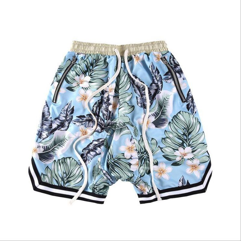Fear Of God Shorts 2017 New Floral The 1980 Collection Justine Bieber fearofgod Beach Mesh Shorts Summer Style Fear Of God Shor
