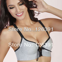 Hot Selling 32-38 Brand Bamboo Charcoal Fiber Push Up Sports Bra With Front Closure,Vest Type Bodybuilding Underwear Women MT-2