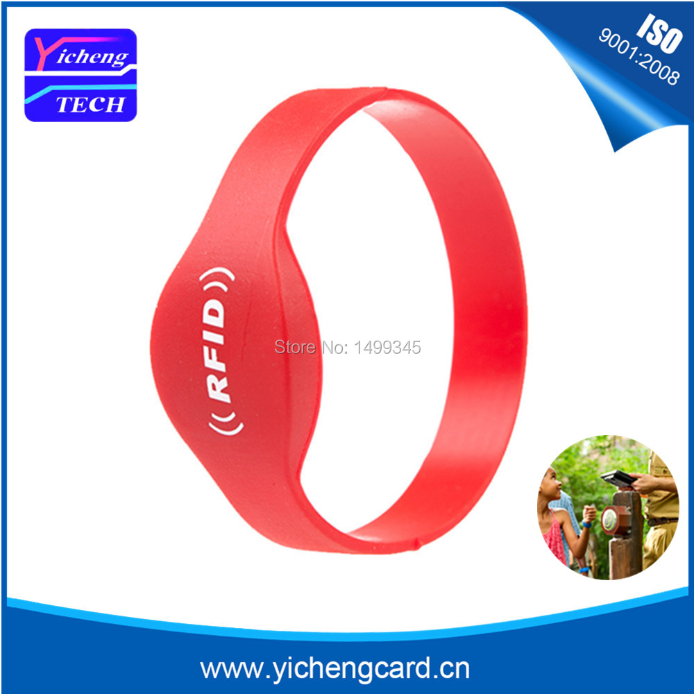 100pcs Universal Ntag215 ISO14443A NFC RFID Silicone Wristband All NFC Phone Available NFC Tag Waterproof Bracelet Smart Card