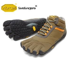 Image 4 - Vibram Fivefingers Trek zapatillas de deporte para hombre, calzado de senderismo para deportes al aire libre, entrenamiento de lana cálida para invierno, calzado de escalada de montaña