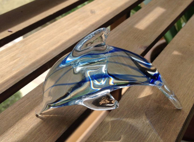 Glass crafts glass art Home Decoration Christmas gift aquarium fish tank ornaments cute little animal dolphin
