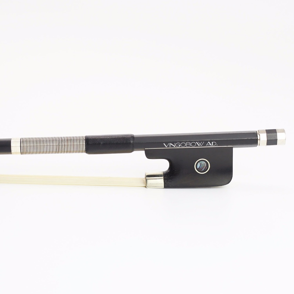 FREE SHIPPING 4/4 Full Size 100C Balck Carbon Fiber CELLO BOW Good Quality Ebony Frog And White Bow Hair Cello Part Accessories