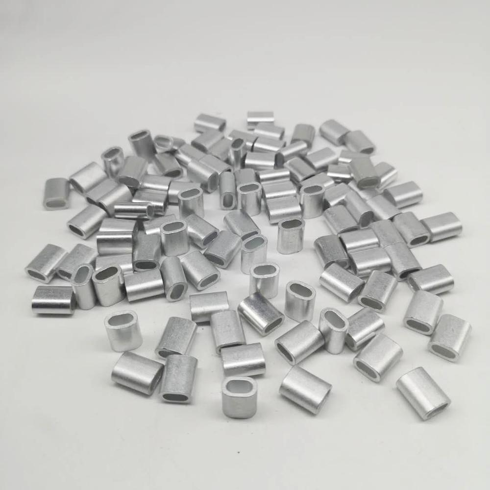 100pcs Pack  3.0mm Single Aluminum Sleeves For Rigging Trace Leader Crimps