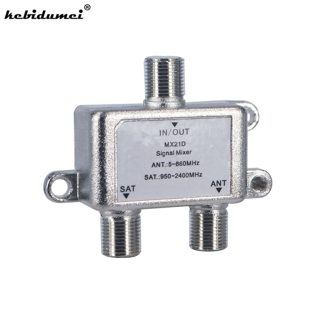 Brand new 2 In 1 Dual-use 2 Way Port TV Signal Satellite Sat Coaxial Diplexer Combiner Splitter Combiners Cable Switch Switcher