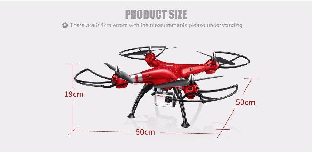 SYMA Professional UAV X8HG X8HW X8HC 2.4G 4CH RC Helicopter Drones 1080P 8MP HD Camera Quadcopter (SYMA X8C/X8W/ X8G Upgrade) 9