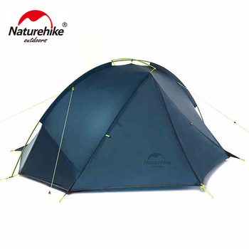 NatureHike 1.4-1.6 Kg Tagar 1-2 Person Tent Camping Backpack Tent 20D Ultralight Fabric NH17T140-J 1