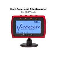 V checker A501 Trip Computer OBD II Scanner Car Engine Fault Code Reader CAN Diagnostic Scan Tool