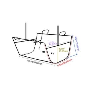 Image 2 - 犬のキャリア防水車のリアバックシートカバー旅行ペットマットハンモックプロテクター安全猫運ぶアクセサリー用品