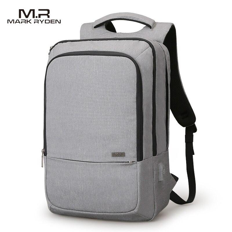 Marca Ryden novedad diseño de recarga USB mochila de viaje de alta capacidad diseño de apertura de 180 grados apto para ordenador portátil de 15,6 pulgadas-in Mochilas from Maletas y bolsas    1