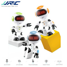 JJRC R8 RUKE Touch Control DIY Gesture Mini Smart Voiced Alloy Robot Toy RC Robots Blue Green Orange For Children Kids Gifts