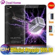 "Оригинал Oukitel C5 PRO Мобильного Телефона Android 6.0 4 Г LTE MTK6737 Quad Core 5 ""2 ГБ + 16 ГБ 8MP ЧПУ 2.5D Анти-Разбить Экран Бесплатный Чехол(China (Mainland))"