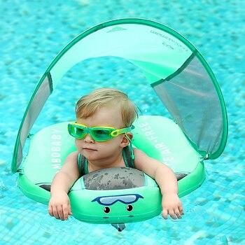 Sólido não-inflável anel de natação do bebê flutuador flutuante deitado piscina brinquedos banheira para acessórios nadar instrutor pára-sol