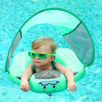 Solid Non-inflatable Baby Swimming Ring Floating Float Lying Swimming Pool Toys Bathtub For Accessories Swim Trainer Sunshade