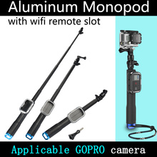 On sale WIFI Remote Pole 38cm-98cm Blue Base with Controller Case Self Telescopic Rod With A Screw For Gopro Sport Camera Free Shipping