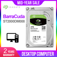 Seagate New 2TB Desktop HDD Internal Hard Disk Drive Original 3.5 '' 2TB 7200RPM SATA 6Gb/s Hard Drive For Computer ST2000DM008