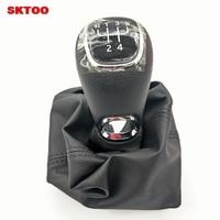 SKTOO For Skoda 2015 2017 Octavia belt shift lever dust cover Manual gear holster Shift lever dust cover Gear Shift Knob