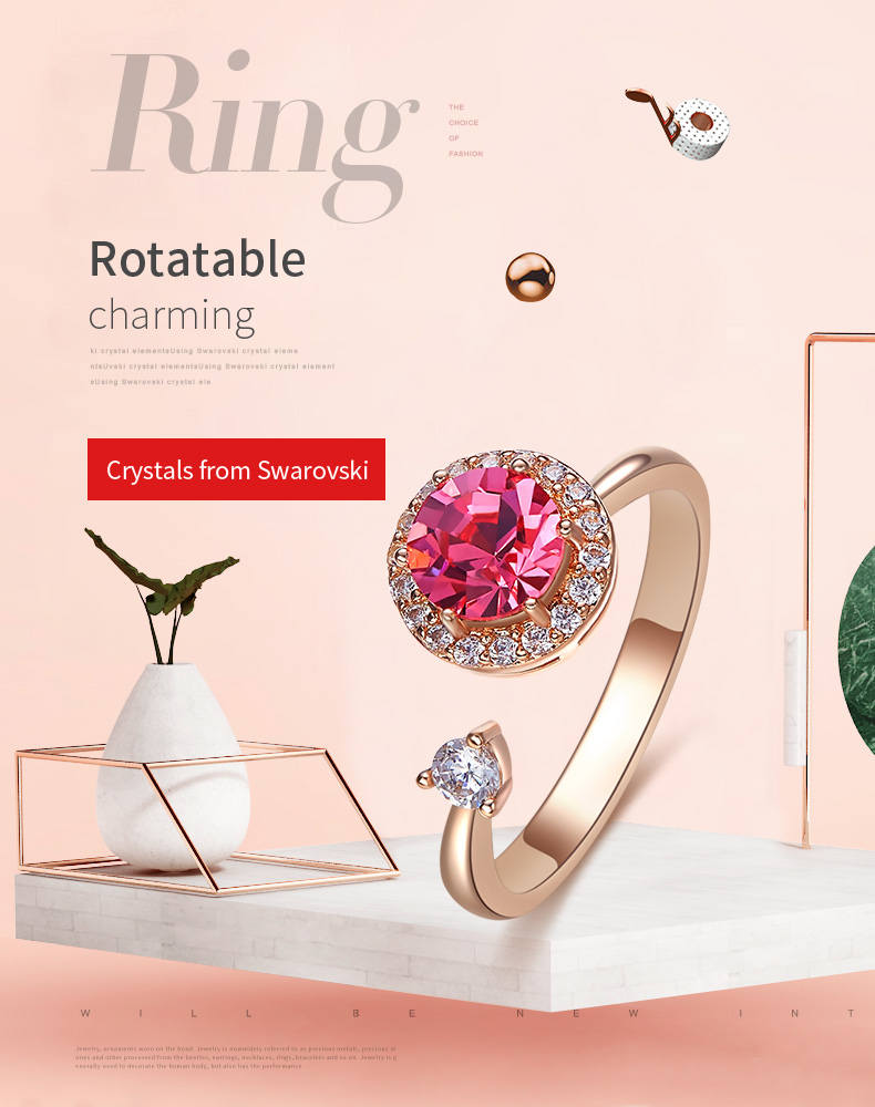 Pink Crystals Rose Gold Ring (1)