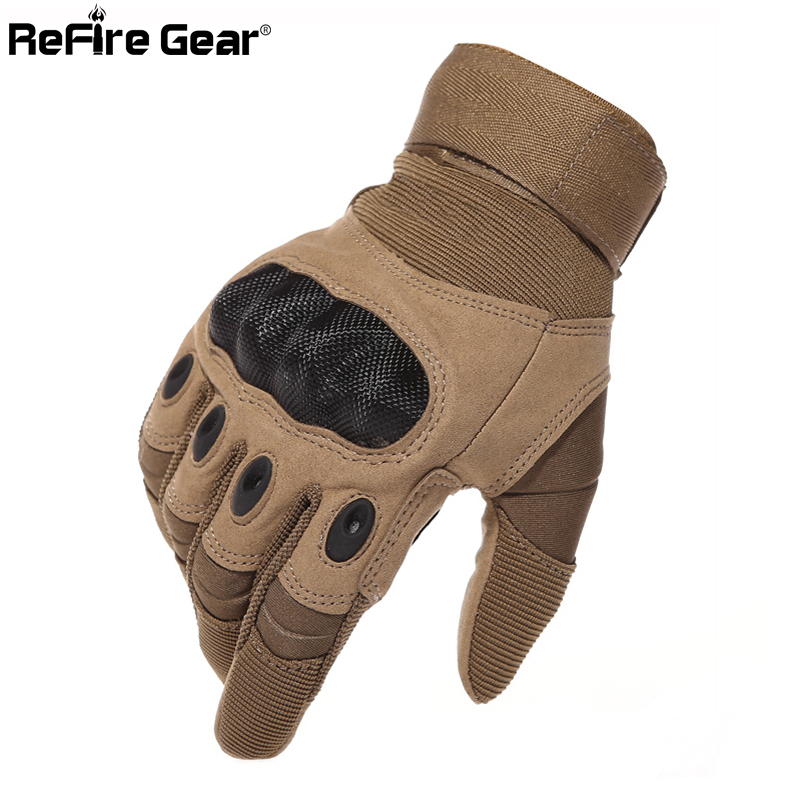 Army Gear Tactical Gloves Men Full Finger SWAT Combat Military Gloves Militar Carbon Shell Anti-skid Airsoft Paintball Gloves