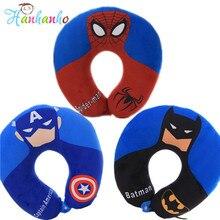 Мстители и Форма плюшевые Подушки для шеи укомплектованы аниме Супермен Человек-паук Бэтмен Плюшевые игрушки детям офисные автомобильное путешествие Nap Подушки детские