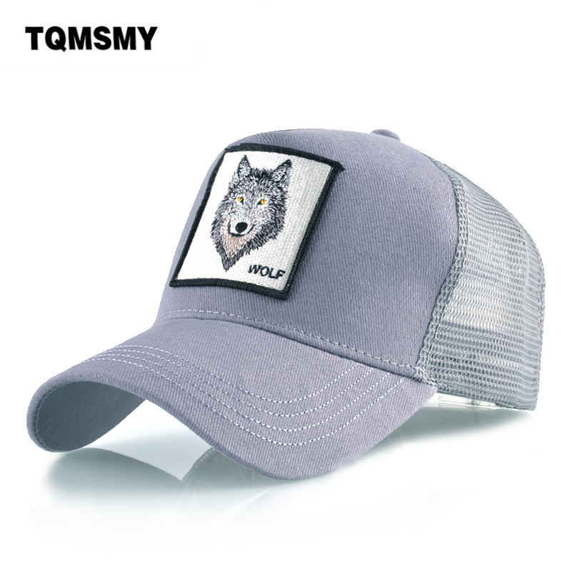 Cotton Snapback caps for mem Breathable Mesh Baseball Cap women Wolf Embroidery Hip Hop Hat Womens Sun visor Bone summer Gorras