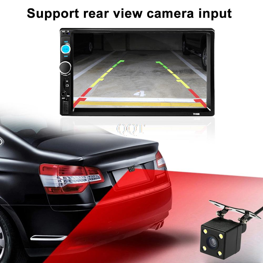7 inch 2 Din HD Bluetooth Car Stereo FM Radio MP3 Audio Video Player Car Radio MP5 Player Multimedia with Rear View Camera