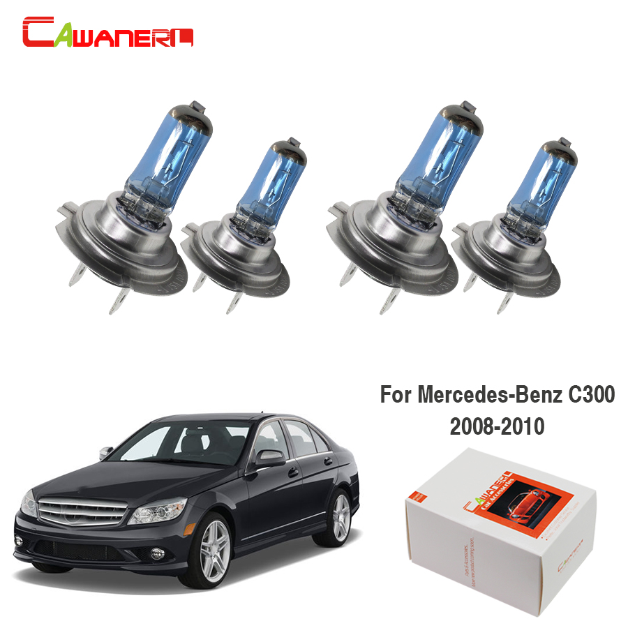 Cawanerl 4 Pieces H7 100W Car Light Halogen Bulb Headlight Light High Low Beam 12V For <font><b>Mercedes</b></font>-Benz <font><b>C300</b></font> Sedan 3.0L 2008-<font><b>2010</b></font> image