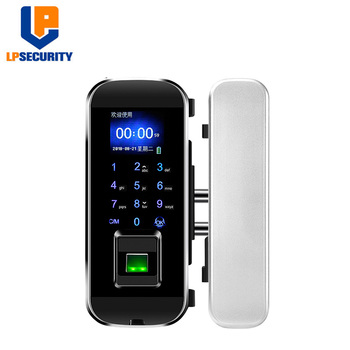 High-quality office glass fingerprint door lock Glass Door Lock Fingerprint Biometric attendance Lock