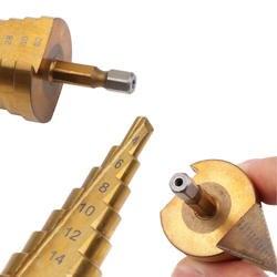 4-мм 32 мм 4-20 HSS титановое покрытие Шаг сверло для металла Высокая скорость сталь дерево сверление механические инструменты отверстие резак