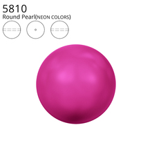Original Crystals from Swarovski 5810 Neon Color Matte Pearl Full Hole Beads Jewelry Making Sewing Beading Knitting DIY Nail Art