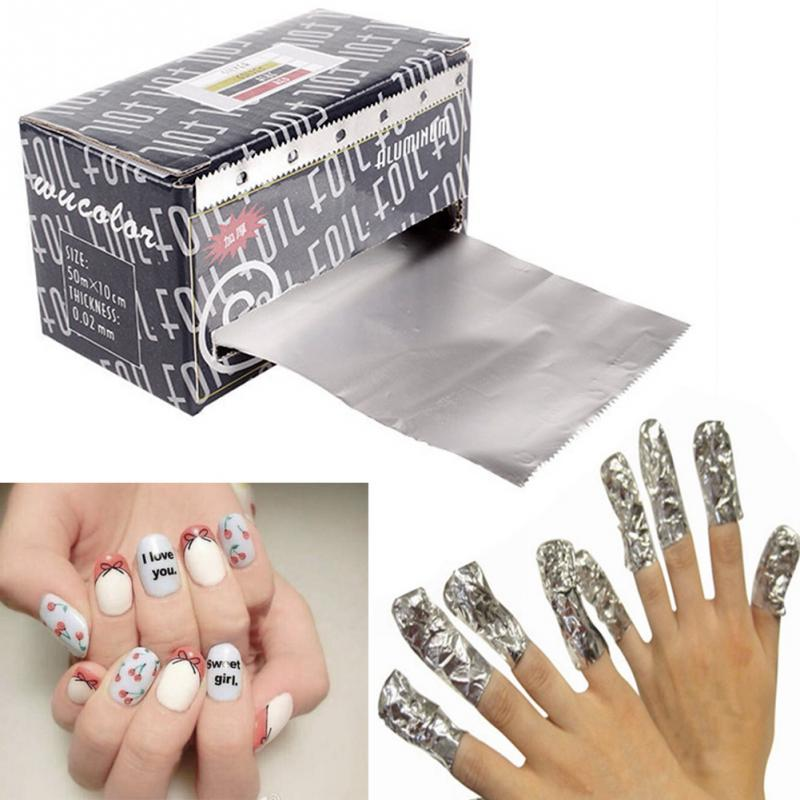 Buy gel polish nail removal wraps remover makeup tool and get free ...